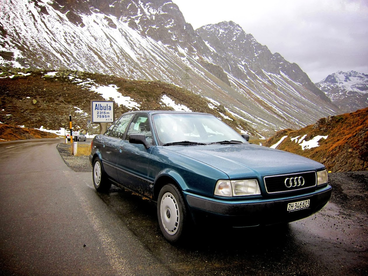 Audi am Albulapass